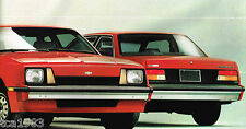 1983 Chevy CAVALIER Brochure with Color Chart: CS,HATCHBACK,CONVERTIBLE,WAGON,