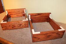 "One Beautiful Pair of Handmade 3/4"" Hardwood Fixed Height Speaker Stands"