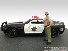 SHERIFF BRAD FIGURE FOR 1:18 SCALE DIECAST MODEL CARS BY AMERICAN DIORAMA 51589