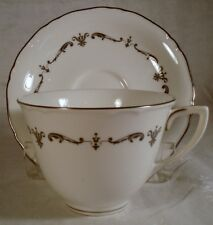 Royal Worcester Silver Chantilly Cup and Saucer