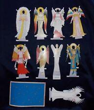 "Tom Tierney Gabriella Angels Through the Ages Die Cut Paper Dolls 9"" 1995"