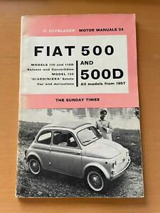 1962 CLASSIC FIAT 500 AND 500D SUNDAY TIMES MOTOR MANUALS 24 OWNERS BOOK