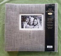 The Paper Studio 12 x 12 grey linen Bonded Leather Scrapbook Album archival safe