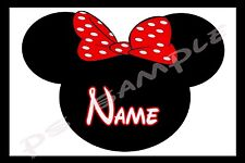 4x6 Disney Cruise Stateroom Door Magnet - MINNIE WITH BOW - PERSONALIZED