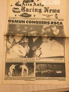 1975 Auto Car Racing Newspaper Speedway Racetrack Tobias Reading PA Osmun RSCA