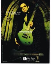 2005 PRS SE Electric Guitar BILLY MARTIN of Good Charlotte Vtg Print Ad