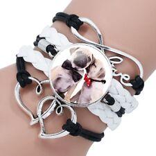 Lovely Pug Infinity  Bracelet.Stunning In Organza Gift Bag