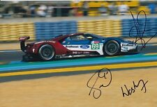 Briscoe, Westbrook, Dixon Hand Signed Ford GT 12x8 Photo 2018 Le Mans 1.