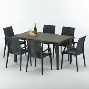 Set Tavolo Con Sedie Da Esterno Nero Acquisti Online Su Ebay