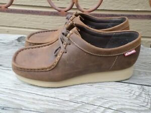 Clarks Padmora Brown Leather Oxfords Women's 8.5 M
