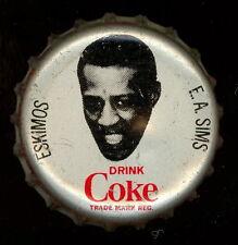 1965 COKE CAPS COCA-COLA + CAP CORK CFL FOOTBALL E. A. SIMS ESKIMOS NEW MEXICO