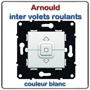 INTERRUPTEUR VOLETS ROULANTS ARNOULD 51009 BLANC VMC ESPACE EVOLUTION