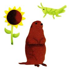 Sizzix Grasshopper, Prairie Dog & Sunflower Bigz die #A10967 Retail $19.99