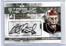NIKLAS BACKSTROM  2009-10 IN THE GAME BTP STARS OF THE GAME CERTIFIED AUTOGRAPH