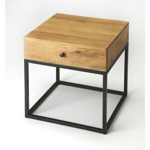 Butler Brixton Iron & Wood End Table, Multi-Color - 3898330