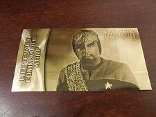 Star Trek Insurrection - Lt. Commander Worf Gold Foil Card G-7  #'d 36/400