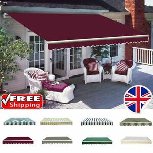 Manual Awning Canopy Outdoor Patio Garden Sun Shade Shelter Fabric Retractable 3