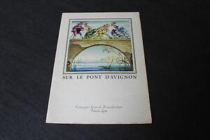 """(73) Menu Sur le pont d'Avignon French Line CGT """"Flandre"""" 23 septembre 1958"""