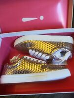 Isaac Mizrahi Rose Gold Metallic Woven Lace up Blaine Sneakers NEW 6.5 M shoes