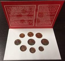 MONACO BU 2011, complete set 1ct to 2 € ! Mintage only 7 000. VERY RARE !