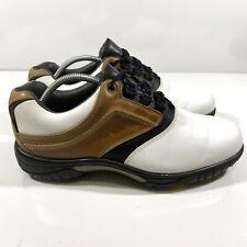New listing Foot Joy FJ Contour Series 54108 White/Brown Golf Shoes Men's Size 10 New Spikes