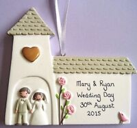 Personalised Wedding Day Anniversary Couple Hanging Church Decoration Mr & Mrs