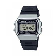 Casio F-91WM-7AEF Casual Digital Watch with Black Rubber Strap & Silver Plate...