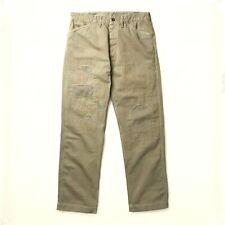 Polo Ralph Lauren RRL Oliva HBT reparado Patchwork militar Chinos Pantalones de $390