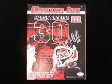 Martin Brodeur Autographed 2009 NJ Devils vs. TB Lightning Program - JSA