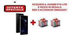 SMARTPHONE HUAWEI P10 LITE BLACK BRAND + COVER E PELLICOLA OMAGGIO