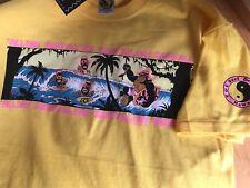 80's T&C Surf Designs T-shirt Men's  Large  Lemon Yellow
