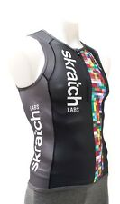 2Xu skratch Labs Sleeveless Triathlon Jersey Men Small Black Multisport Ironman