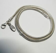 "Pandora Sterling Silver Charm Necklace 19.5"" Long 31.4 Grams RETIRED Hang Tag"