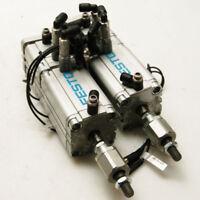 Lot of 2 Festo ADVU-50-65-A-P-A Pneumatic Air Cylinder W/ ADVU-50-15-P-A