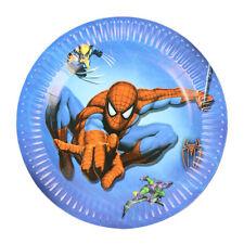 10 x Spiderman Paper Plates Kids Party Happy Birthday