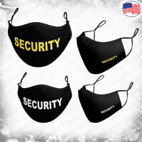SECURITY black 3D face mask-Guard- Kids & Adults XS,S,M, L,XL-Reusable& Washable