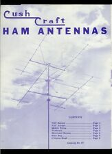 Rare Vintage Original Cush Craft HF Ham Radio Communication Antennas Catalog