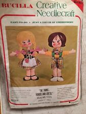 VTG Bucilla Creative Needlecraft Hansel And Gretel 2 Doll Kit Twins Hug Me Toys