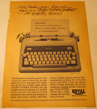 Royal Futura Portable Typewriter 1961 Magazine Ad