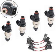 4 x 550cc Fuel Injectors For Honda OBD1 OBD2 B16 B18 B20 D15 D16 F22 H22 w/clips