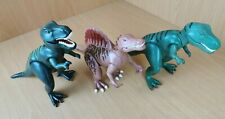 """PLAYMOBIL DINOSAURS ACTION FIGURES X 3 ALL APPROX 9"""" TALL 15"""" LONG"""