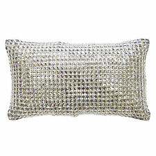 Kylie Minogue Square Diamond Silver Luxury Glamour 18x32cm Filled Cushion