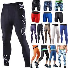 CONTENITIVE Pantaloncini da uomo Collant Lunghi pantaloni da corsa palestra MOTO