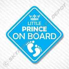 Little Prince On Board Vinyl Decal Bumper Sticker Baby Boy Sticker Car Truck SUV