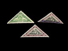 Vintage Stamp, LOT OF 3 LIBERIA MINT EARLY ISSUE TRIANGLES, Definitive,Overprint