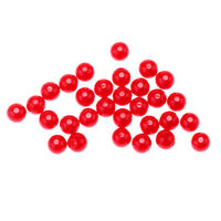 30x 6mm Fishing Beads Lure Line Beads Round Lure Beads Fishing Tackle Red