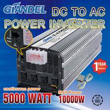 Large Shell Power Inverter Modified 5000W(10000W Max)12V-240V +Remote Control