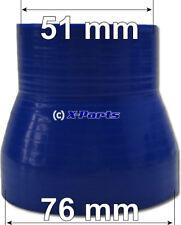 llk Manguera Manguera trenzada Reductor 76-51 mm azul NUEVO