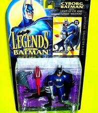 LEGENDS OF BATMAN CYBORG Action Figure Trading Card Light Up Laser Weapon DC Lot