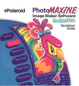 Polaroid PhotoMaxine Fun for Girls 7 Photo Applications * Ship Free